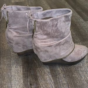 Not Rated Taupe Booties